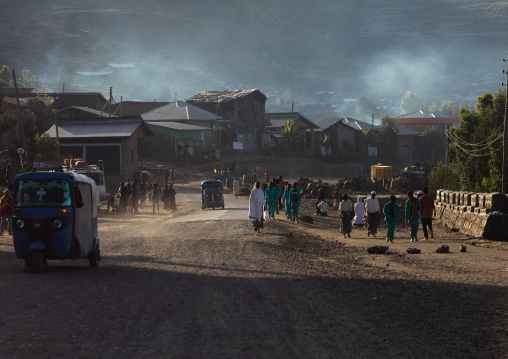 Village activity in the morning, Amhara Region, Lalibela, Ethiopia