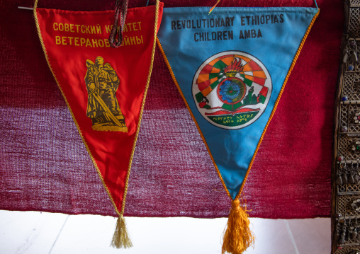Pennants from the derg communist times, Addis Abeba region, Addis Ababa, Ethiopia