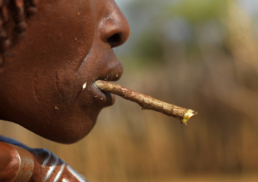 Hamer Tribe Woman Chewing, Omo Valley, Ethiopia