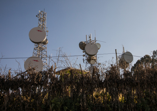 Communications Towers at the top of Entoto hill, Addis Ababa Region, Addis Ababa, Ethiopia