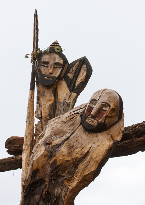 Representation Of Heroic Konso Tribe Chiefs, Omo Valley, Ethiopia