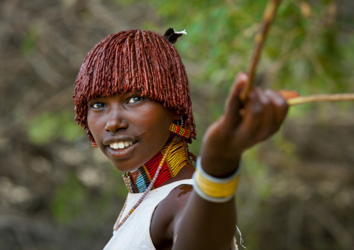 Hamer Tribe Woman During Bull Jumping Ceremony, Turmi, Omo Valley, Ethiopia