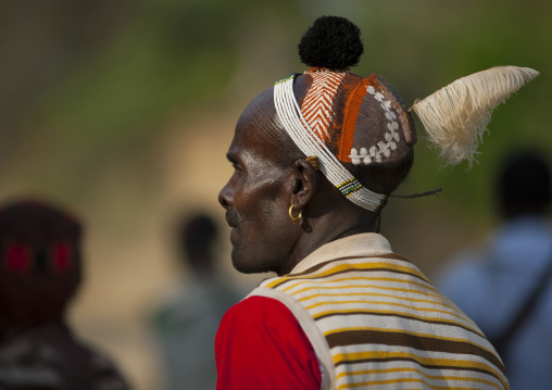 Hamar Tribe Man At Bull Fighting Ceremony, Turmi, Omo Valley, Ethiopia