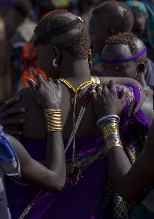 Bodi Tribe People Celebrating The Kael Ceremony, Hana Mursi, Omo Valley, Ethiopia