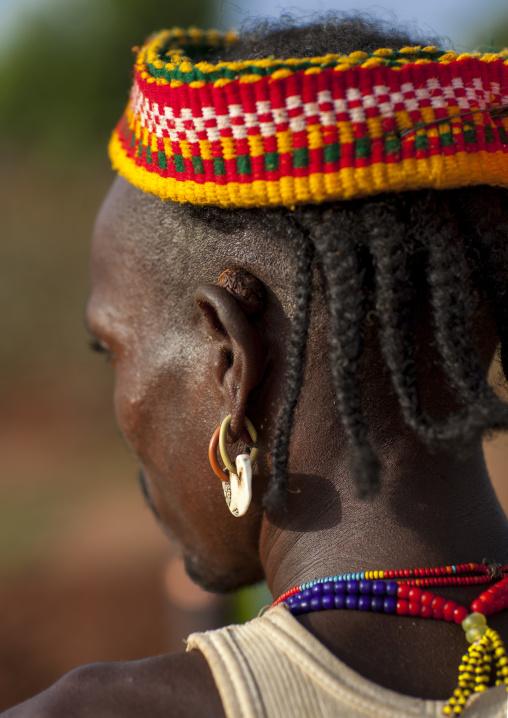 Bashada Tribe Man Hairstyle, Dimeka, Omo Valley, Ethiopia