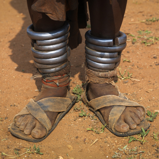 Iron Anklets Of A Hamer Woman Ethiopia