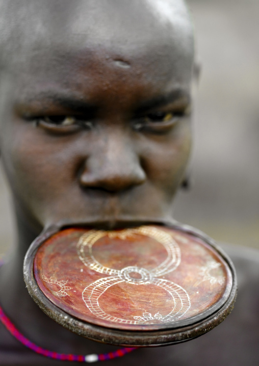 Mursi Woman Lip Plate, Omo Valley Ethiopia