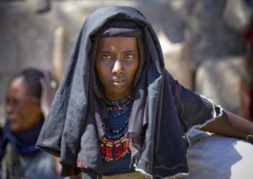 Afar tribe woman, Assaita, Afar regional state, Ethiopia