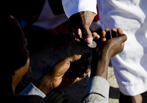 Charity at aid el kebir celebration, Assaita, Afar regional state, Ethiopia