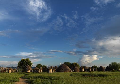 Karo Tribe Huts In Korcho Village, Omo Valley, Ethiopia
