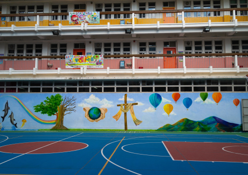 Christian school playground, Special Administrative Region of the People's Republic of China, Hong Kong, China