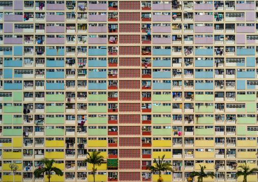 Choi hung rainbow building, Kowloon, Hong Kong, China
