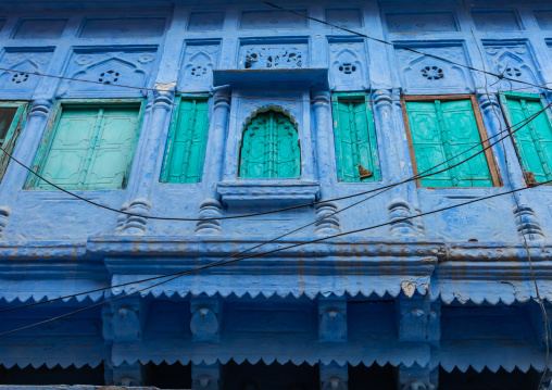 Old blue house of a brahmin, Rajasthan, Jodhpur, India