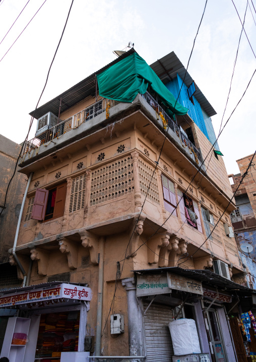 Historic house in the old city, Rajasthan, Jodhpur, India