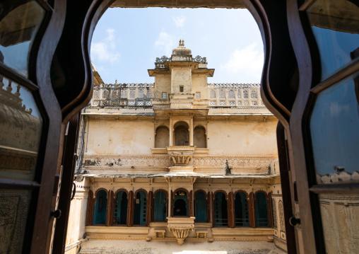 City palace courtyard, Rajasthan, Udaipur, India
