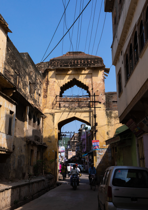 Old gate in the city center, Rajasthan, Bundi, India