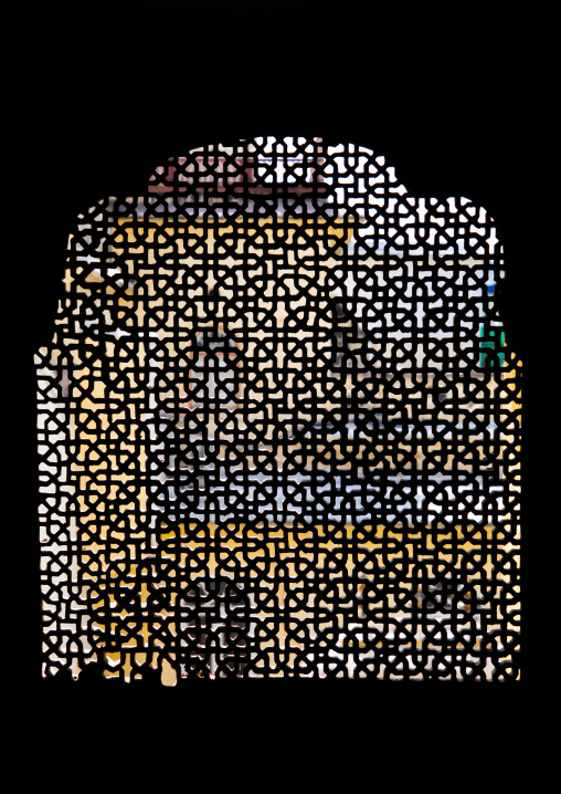 Jali window in the city palace, Rajasthan, Jaipur, India