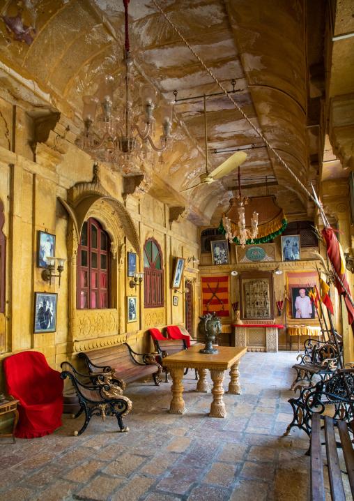 Furnitures inside an old haveli, Rajasthan, Jaisalmer, India