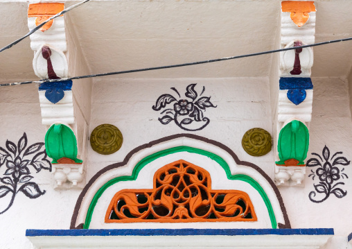 Ventilation over a door of a haveli, Rajasthan, Jodhpur, India