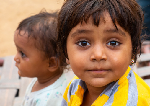 Portrait of an indian girl, Rajasthan, Jaisalmer, India