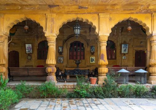 Old haveli arches, Rajasthan, Jaisalmer, India