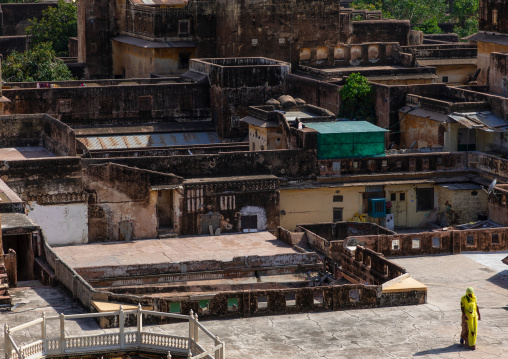 High angle view of the city palace, Rajasthan, Jaipur, India