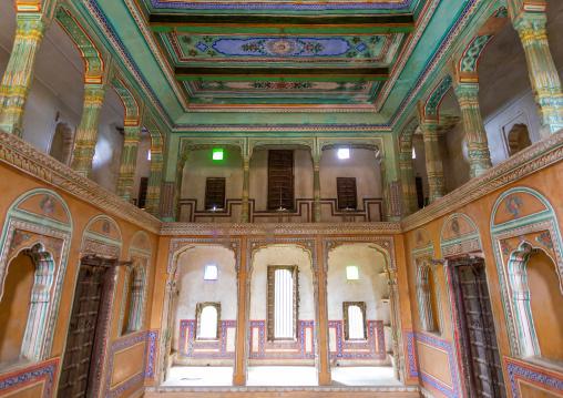 Inside an old historic haveli, Rajasthan, Nawalgarh, India