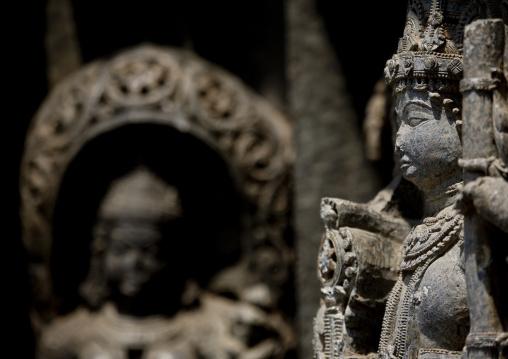 Carvings Cuts In Rock At Keshava Temple, Somnathpur, India