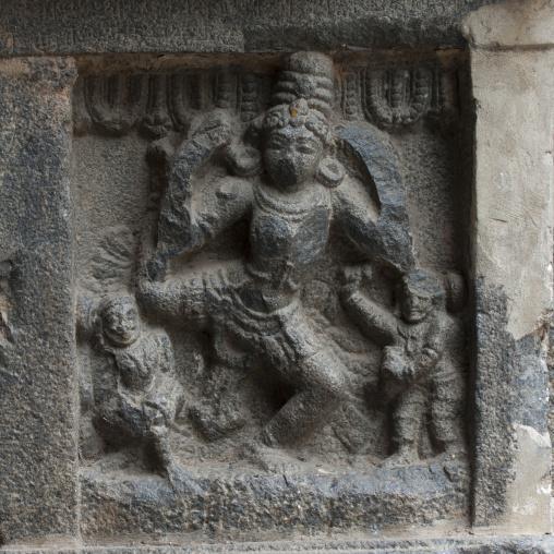 Carvings Of Karana Dance On Nataraja Temple's Gopuram, Chidambaram, India