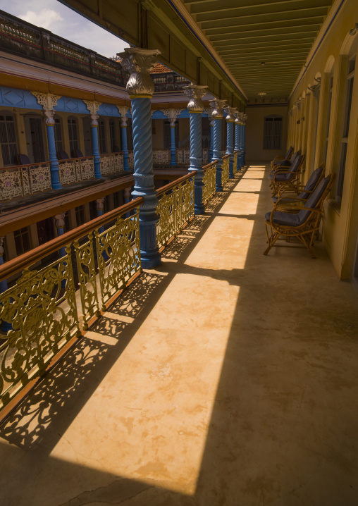Courtyard Of Chettinad Mansion In Kanadukathan Chettinad, India