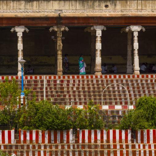 Golden Lotus Bassin Inside The Sri Meenakshi Temple, Madurai, India