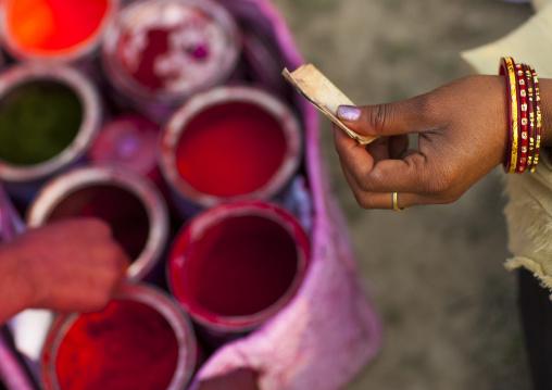 Woman Buying Powders, Maha Kumbh Mela, Allahabad, India