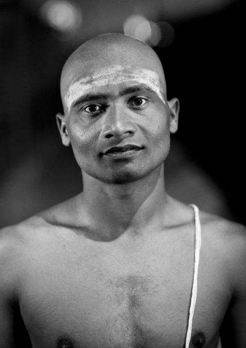 Young Man Becoming A 1Naga Sadhu, Maha Kumbh Mela, Allahabad, India