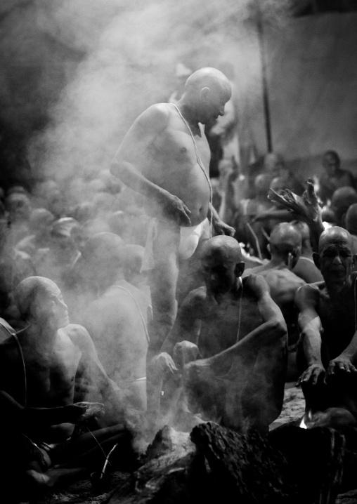 Ceremony During The Maha Kumbh Mela, Allahabad, India