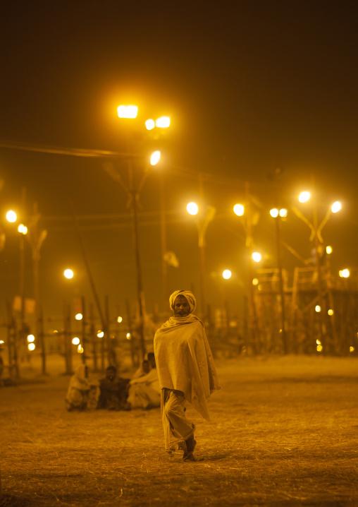 Man In The Night, Maha Kumbh Mela, Allahabad, India