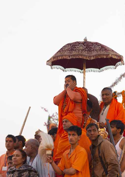 Guru At Maha Kumbh Mela, Allahabad, India