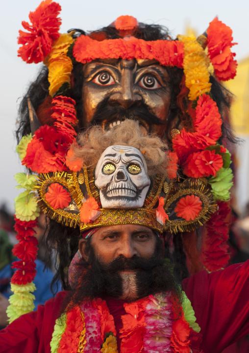 Man With A Giant Headwear, Maha Kumbh Mela, Allahabad, India