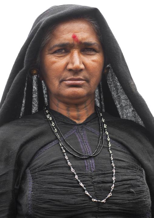 Rabari Tribe Woman In Maha Kumbh Mela, Allahabad, India