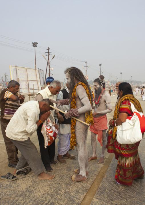 Naga Sadhu 1Giving Blessings, Maha Kumbh Mela, Allahabad, India