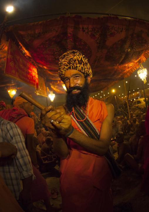 Sadhu In Juna Akhara, Maha Kumbh Mela, Allahabad, India