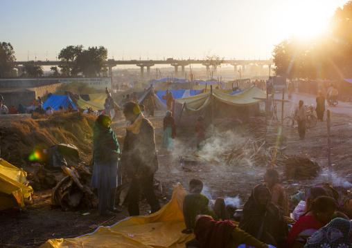 Camp For Pilgrims, Maha Kumbh Mela, Allahabad, India