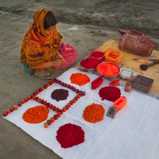 Woman Selling Powders, Maha Kumbh Mela, Allahabad, India