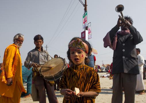 Musicians, Maha Kumbh Mela, Allahabad, India