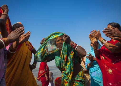 Rajasthan Pilgrims Dancing, Maha Kumbh Mela, Allahabad, India