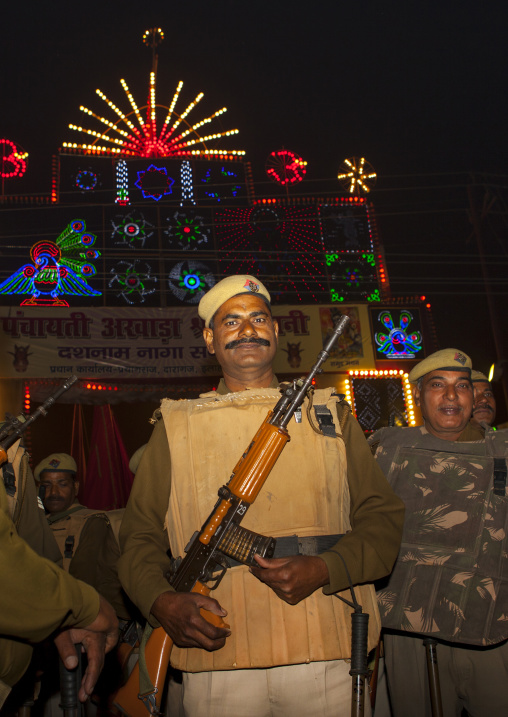 Police During 1Maha Kumbh Mela, Allahabad, India