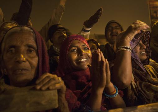 Pilgrims At Maha Kumbh Mela, Allahabad, India