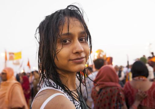 Pilgrim After The Bath, Maha Kumbh Mela, Allahabad, India