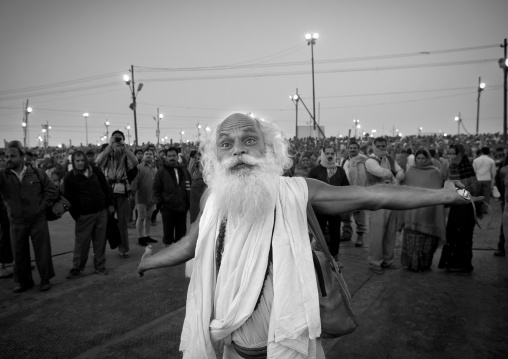 Pilgrim Dancing At Maha Kumbh Mela, Allahabad, India