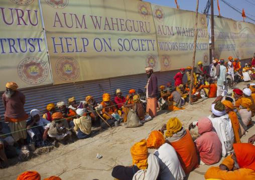Food Distribution In An Ashram, Maha Kumbh Mela, Allahabad, India