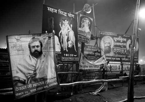 Advertising For Ashrams, Maha Kumbh Mela, Allahabad, India